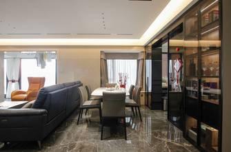 富裕型120平米三室一厅现代简约风格餐厅装修图片大全