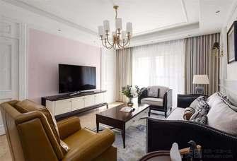 富裕型140平米四室四厅美式风格客厅图