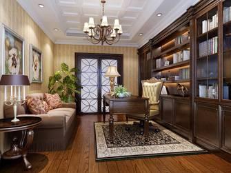 豪华型140平米四室三厅法式风格书房效果图