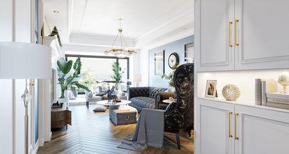20万以上140平米三室两厅法式风格走廊装修案例