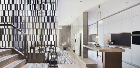 20万以上140平米四室三厅轻奢风格厨房装修效果图