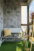 140平米三室一厅新古典风格阳台欣赏图