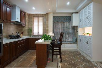 富裕型110平米三室两厅美式风格厨房图片