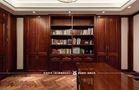 豪华型140平米美式风格书房图片