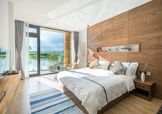 豪华型140平米别墅公装风格卧室图