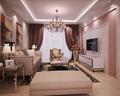 15-20万130平米三室一厅欧式风格客厅装修效果图