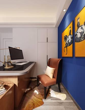 20万以上120平米三室两厅美式风格书房装修图片大全