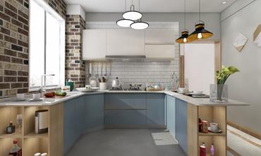 富裕型110平米三北欧风格厨房装修图片大全