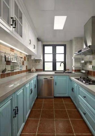 140平米三室两厅美式风格厨房装修图片大全