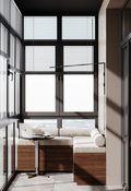 富裕型130平米三美式风格阳台图片