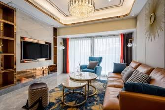 富裕型80平米轻奢风格客厅设计图