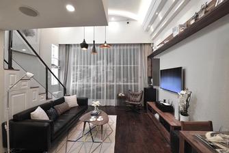 经济型80平米现代简约风格客厅图