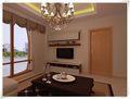 90平米三室两厅法式风格阳光房设计图