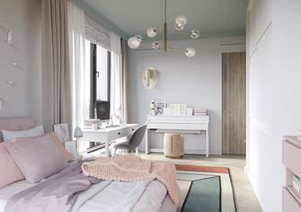 80平米公寓北欧风格阳光房设计图