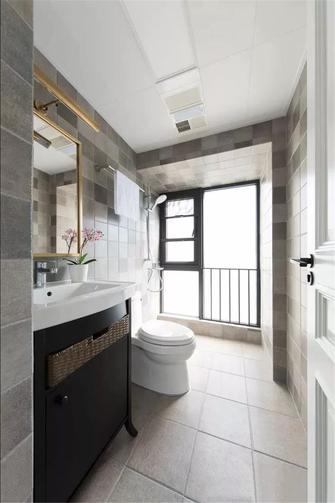 富裕型90平米三室一厅美式风格卫生间装修案例