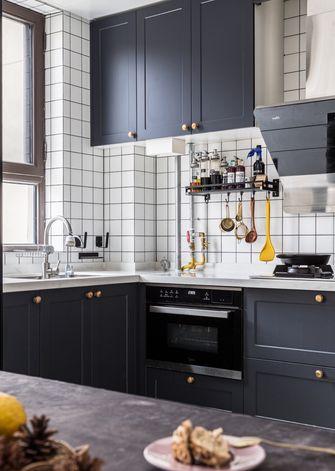 90平米三室一厅混搭风格厨房欣赏图