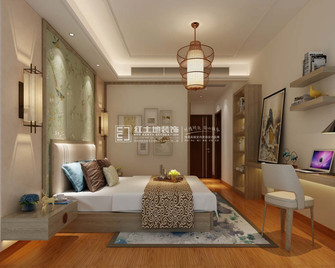 20万以上140平米三室一厅混搭风格卧室设计图