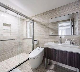 富裕型110平米三室一厅北欧风格卫生间装修图片大全