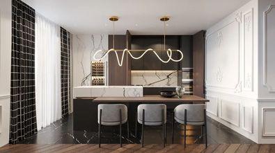 豪华型140平米四美式风格餐厅设计图