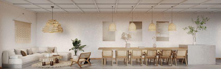 豪华型140平米田园风格餐厅装修案例