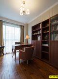 富裕型130平米三室两厅美式风格书房欣赏图