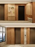 豪华型140平米四现代简约风格楼梯间图片