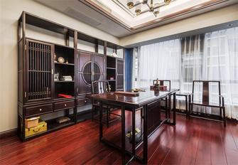 豪华型140平米四室三厅中式风格书房图片