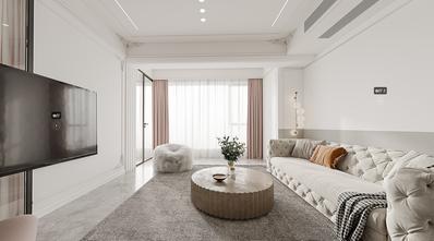 110平米三室两厅法式风格客厅设计图