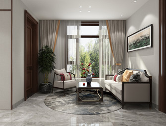 豪华型140平米别墅中式风格阳台图片