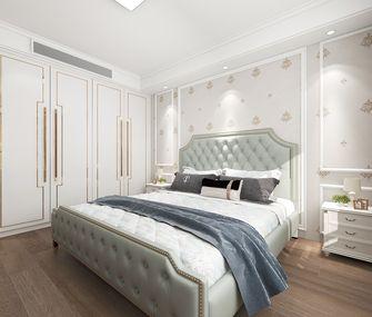 豪华型140平米三室一厅美式风格卧室图片大全