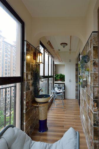 90平米三室两厅美式风格阳台图片大全