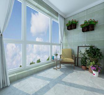 140平米三室两厅混搭风格阳台图片