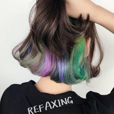彩虹染效果图