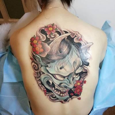 后背般若纹身图