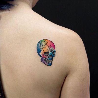 小骷髅纹身图