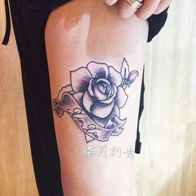 四顾玫瑰纹身款式图