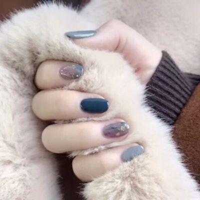 木子日系美美甲款式图