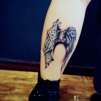 天使&恶魔纹身图