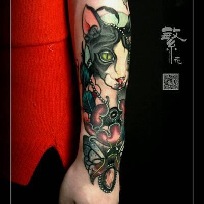 欧美彩色纹身图