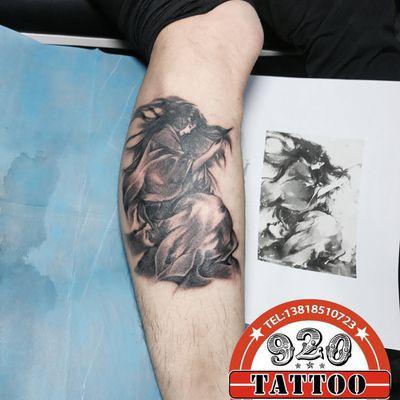 水墨风纹身款式图