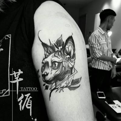 黑白纹身图
