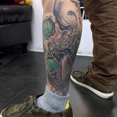 欧美写实包纹身图