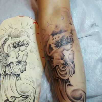 天使纹身款式图