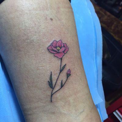 粉色玫瑰纹身款式图