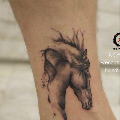马纹身款式图