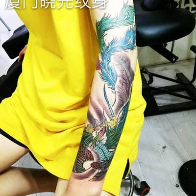 小花臂纹身款式图