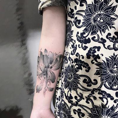 水墨纹身款式图