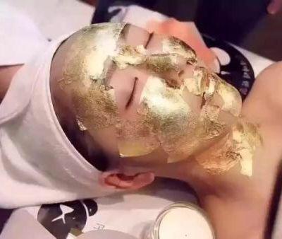 黄金换肤美甲图
