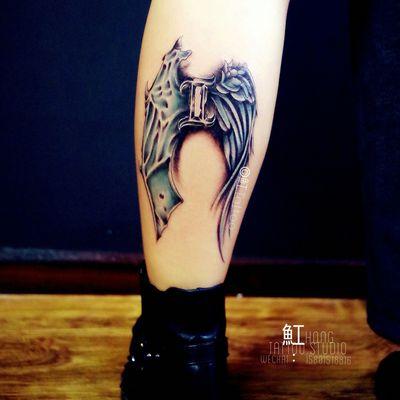 天使翅膀+纹身款式图