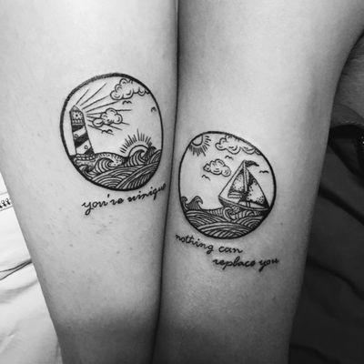 情侣图纹身图